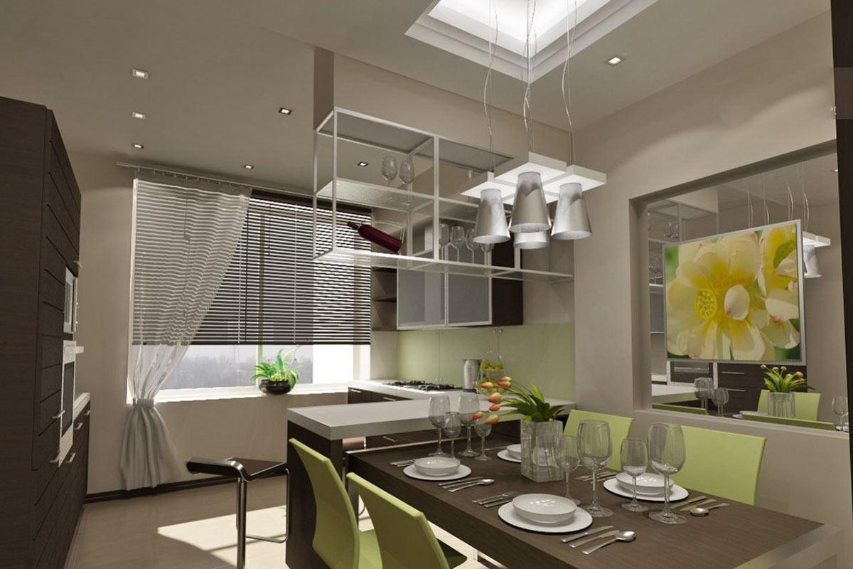 Дизайн кухни 9 кв.мальбом